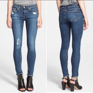 RAG & BONE La Paz Skinny Distressed Frayed Hem 24W